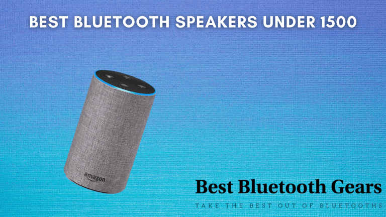 Best Bluetooth speakers under 1500 in India