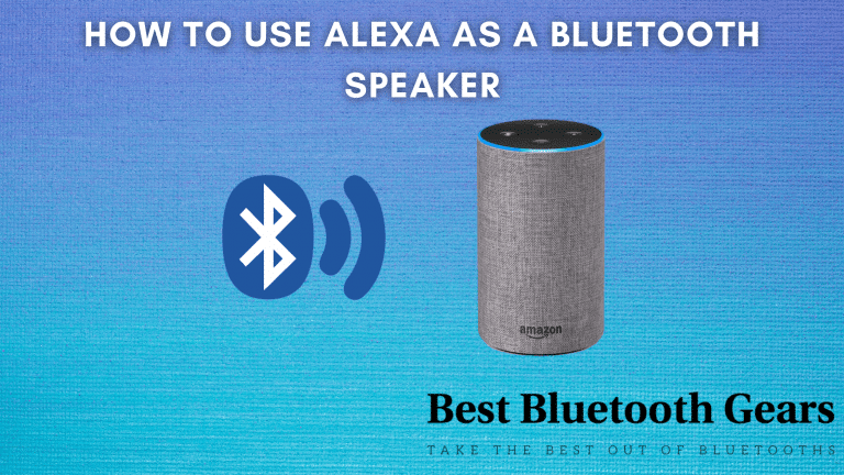 how to use alexa as a bluetooth speaker